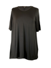 Comfy U.S.A. Comfy Elbow Sleeve Tunic In Black