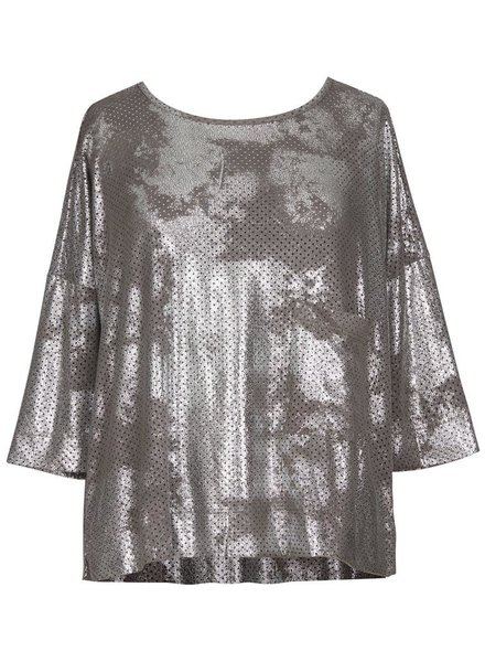 Alembika Alembika Preforated Top In Silver