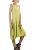 Comfy Lisa Dress In Chartreuse