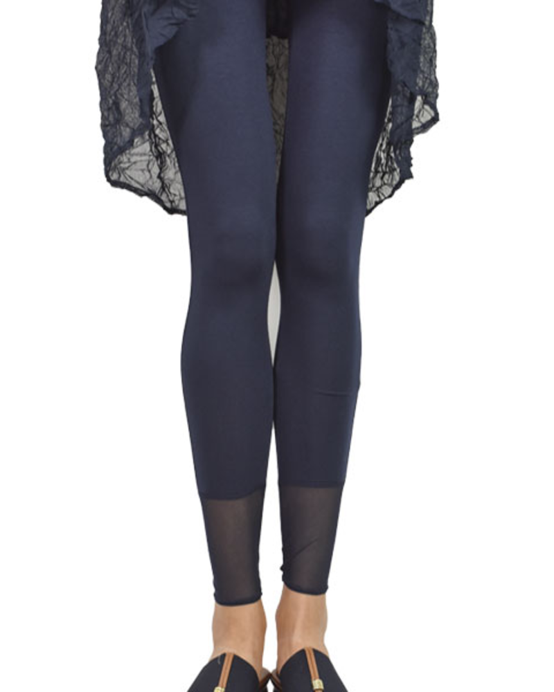Comfy's Long Leggings With Mesh Contrast In Navy