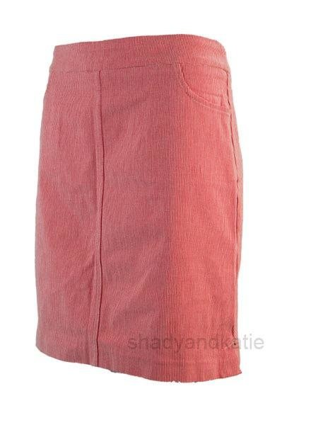 Renuar Renuar's Two Pocket Skort In Lipstick Stripe