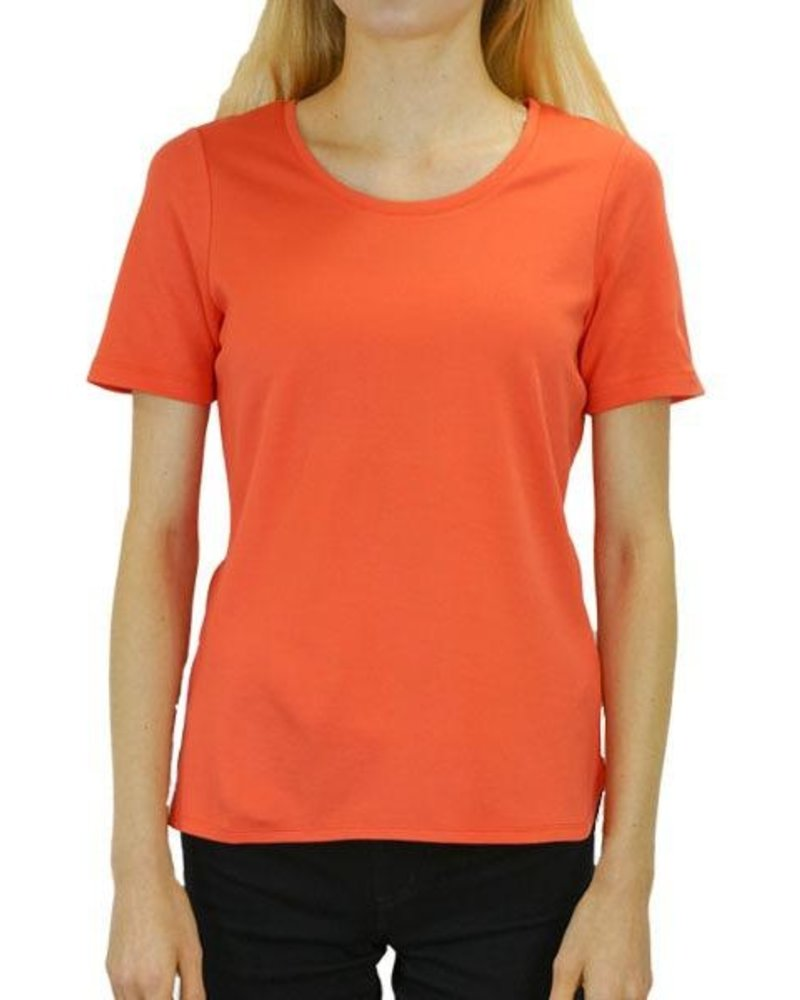 Renuar Renuar's Terrific Tee In Hot Coral