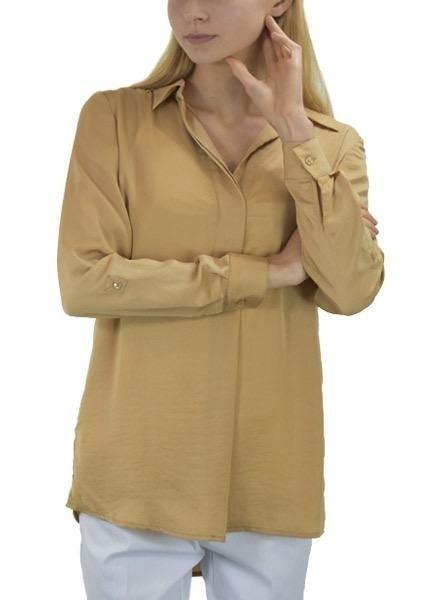 Renuar Renuar's Easy Shirt In Tan