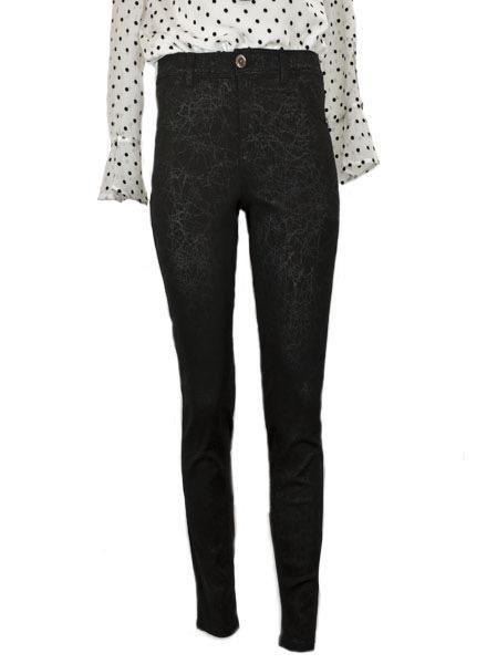 French Dressing French Dressing Crackle Black Olivia Slim Ankle Jean