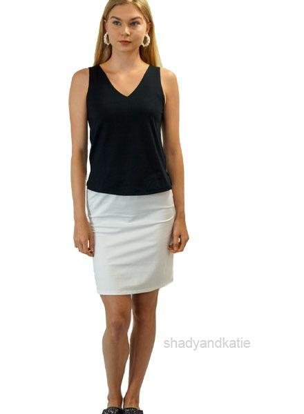 Just Jill Pencil Skirt In White