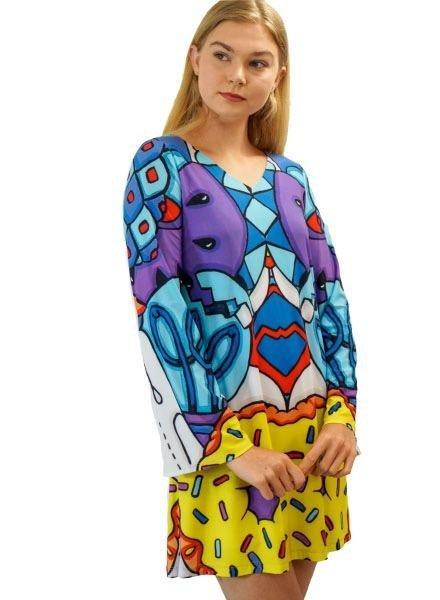 Le Galeriste Joan Dress In Break