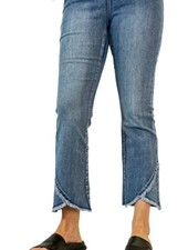 French Dressing French Dressing Tulip Flare Crop Jean