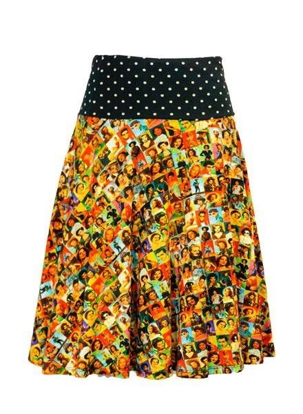 LaLamour La Lamour Circle Skirt in Icons Print