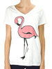 Marushka's Pink Flamingo On White