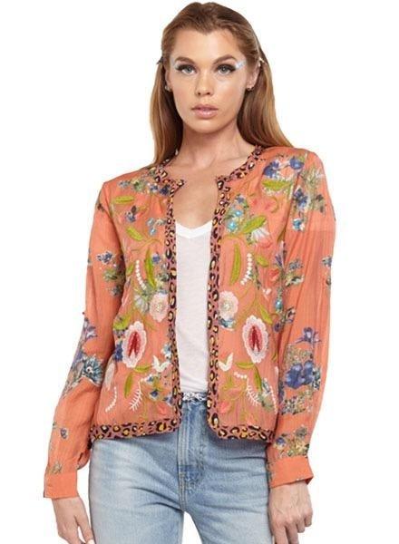 Aratta Aratta Safiya Cropped Jacket In Coral