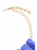 Chic Shape Graduated Resin Necklace In Cobalt