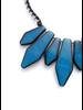 BoHo Glam Fan Necklace In Blue