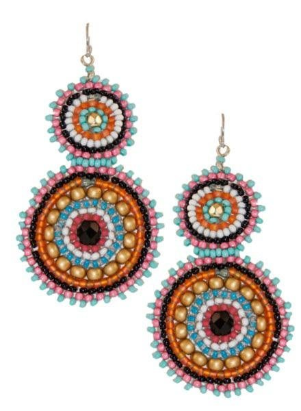 KVZ KVZ Handbeaded Double Earrings In Pucci