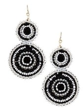 KVZ KVZ Handbeaded Double Earrings In Black & White