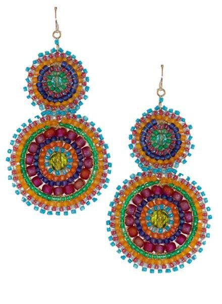 KVZ KVZ Handbeaded Double Earrings In Confetti