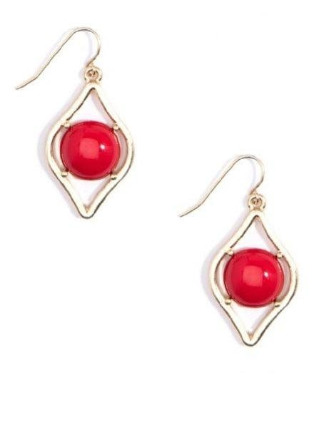 Sauron Drop Earrings In Red