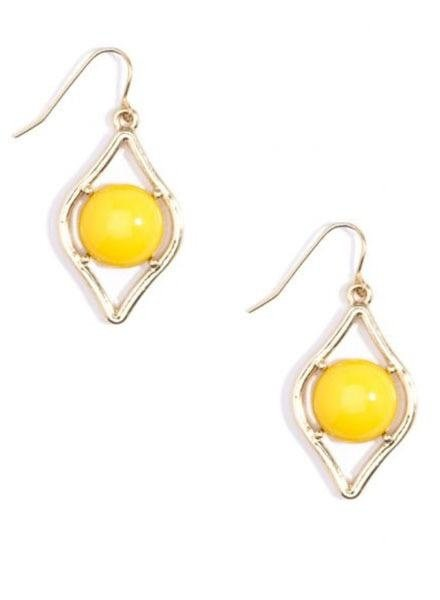 Sauron Drop Earrings In Yellow