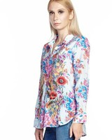 Aratta Aratta's Our Hearts Shirt In Sky Floral