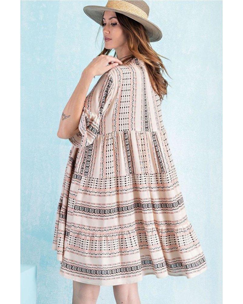 Tribal Dress In Khaki