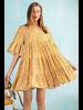 Tribal Dress In Mustard