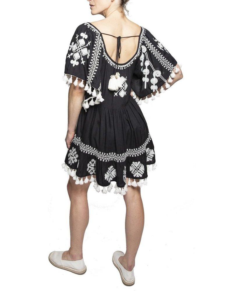 Area Stars Area Stars Mystique Tunic Dress In Black & White