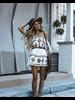 Area Stars Area Stars Mystique Tunic Dress In Brown & White