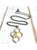 Honeycomb Necklace & Gold Bee