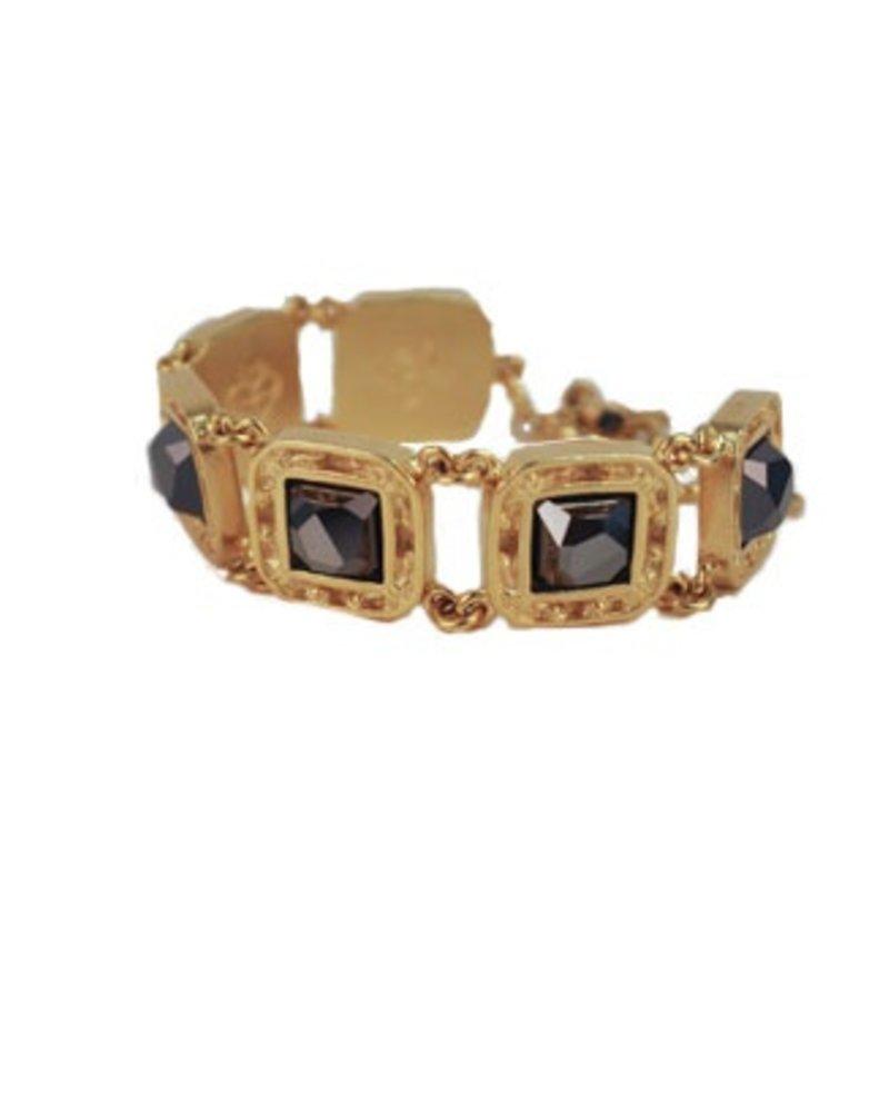 VSA Designs Virgins, Saints & Angels Treasure Bracelet In Hematite & Gold