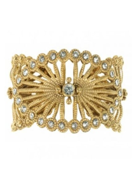 VSA Designs Queen Of The Night Cuff In Gold and Clear