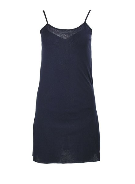 Petit Pois' Dress Under Slip In Midnight Blue