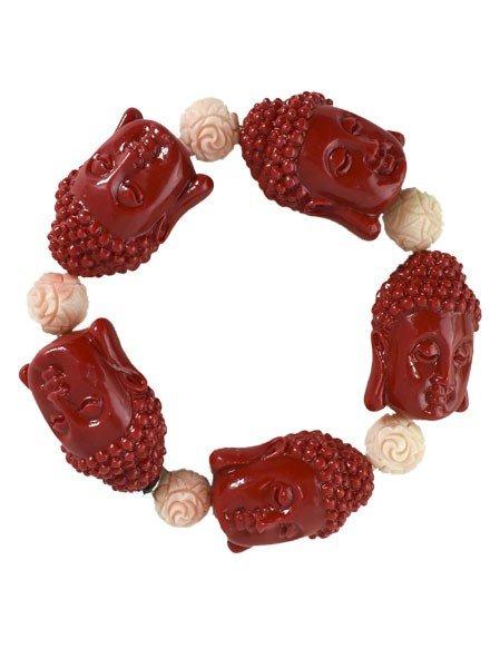Siddhartha Bracelet In Red & Light Pink