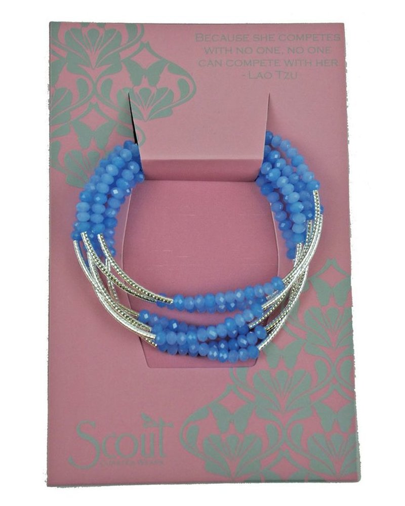 Scout Wrap Bracelet Or Necklace In Periwinkle Silver