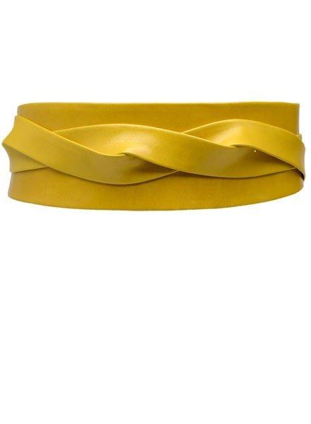 Ada's Wrap Belt In Mustard Leather