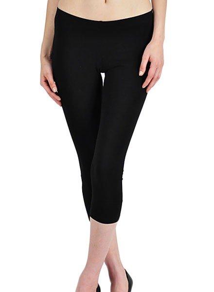 Basic Capri Leggings In Black