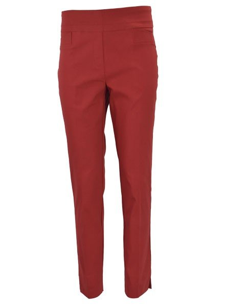 Renuar The Ankle Cigarette Magic Pant In Crimson