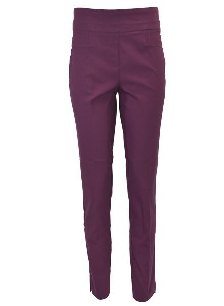 Renuar The Ankle Cigarette Magic Pant In Grape