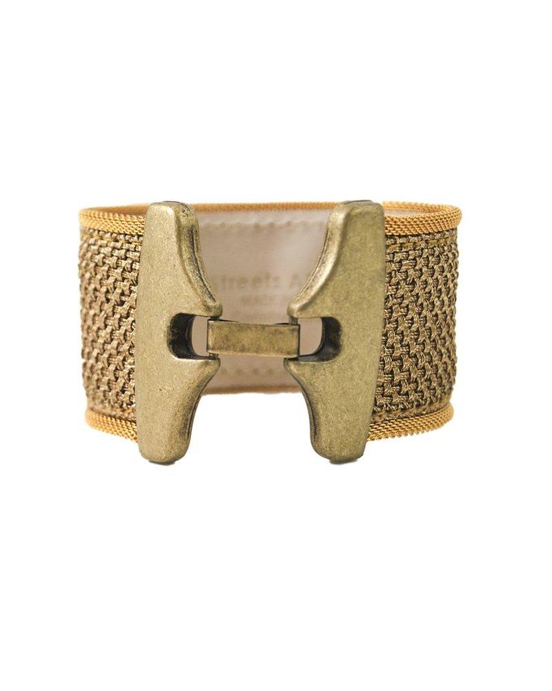 Woven Gold Mesh Streets Ahead Bracelet