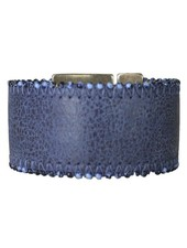 Streets Ahead Blue & Beads Leather Cuff