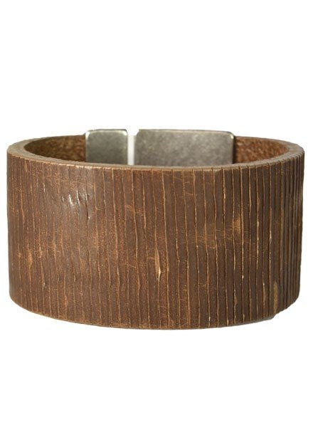 Streets Ahead Wide Natural Leather Cuff