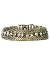 Streets Ahead Silver Mesh & Crystal Bracelet
