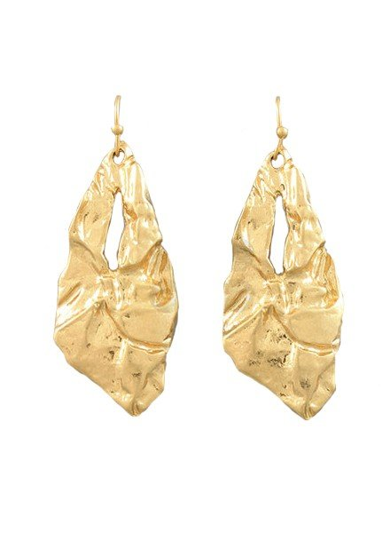 Hammered Earrings In Gold