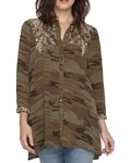 Johnny Was Johnny Was Lennon Swing Shirt Tunic In Camo