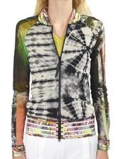Petit Pois' Combo Bomber Jacket In Mixed Prints