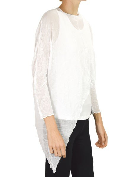 Comfy U.S.A. Comfy Kathy Topper In White