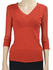 Petit Pois' Sport V-Neck In Pompei Red