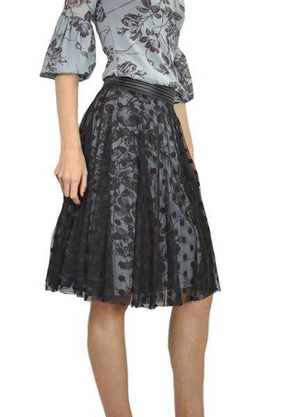 Petit Pois Lined Circular Skirt In Polka Dot