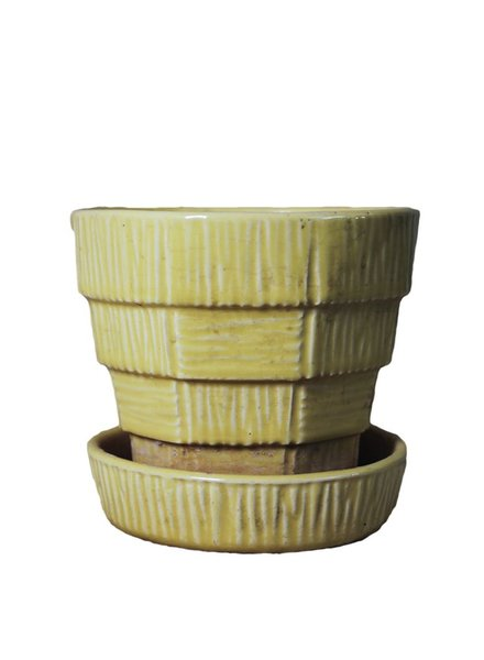 Small Yellow Mc Coy Flower Pot