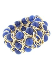 Triple Layer Stretch Bead Bracelet In Navy