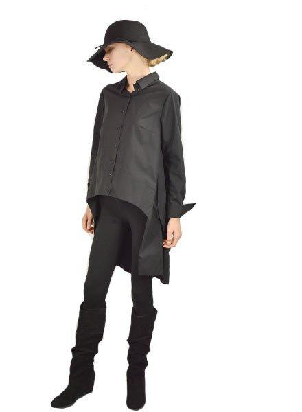 Grizas Griza's Tuxedo Shirt In Black