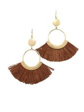 Fan Dance Earrings In Brown